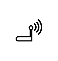 router line icon in flat style for apps ui vector image