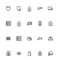 Security Line Icons 4 vector
