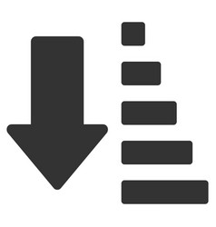 Sort down arrow flat icon vector