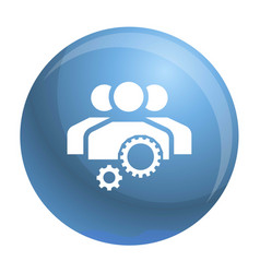 team work gear icon simple style vector image