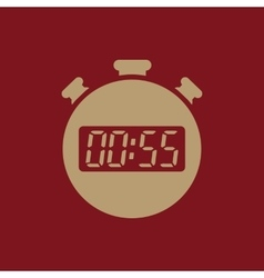 The 55 seconds minutes stopwatch icon Clock and vector