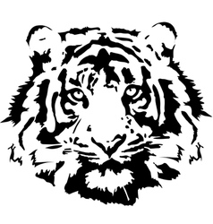 Tiger head in black interpretation 1 vector