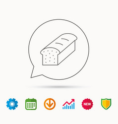 Toast icon sliced bread sign vector