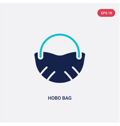 two color hobo bag icon from clothes concept vector image