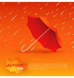 Umbrella Autumn sale vector image
