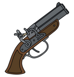 Vintage percussion pistol vector