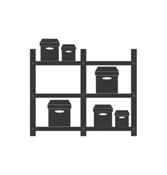 Warehouse cardboard boxes delivery pictogram vector