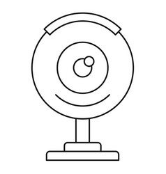 web camera icon outline style vector image