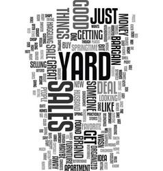 Yard sales text word cloud concept vector