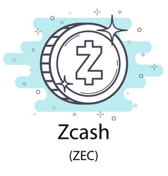 Zcash outline coin vector