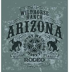 Arizona wild horse rodeo vector image