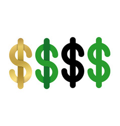 dollars sign icon usd currency symbol isolated vector image vector image