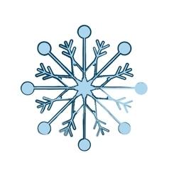Snowflake xmas winter vector