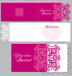 wedding invitation greeting card with laser vector image