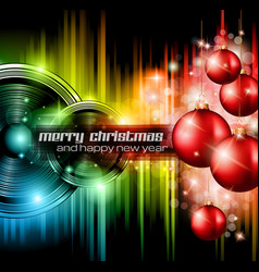 Christmas Club Party Background vector image