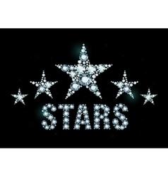 Diamond stars vector image