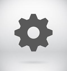 Flat Settings Cog Sign Repair Key Symbol vector image