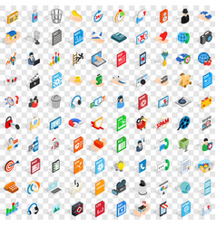 100 webdesign icons set isometric 3d style vector image vector image