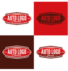 classic auto logo vector image