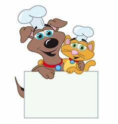 dog and cats chefs vector image