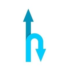 Forward and u-turn arrows vector image vector image