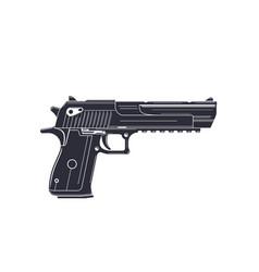 powerful pistol handgun on white vector image vector image