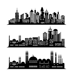 Set of skyscraper sketches City design vector image