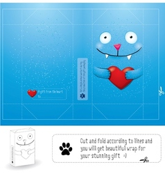 Creative wrap layout for gift vector image vector image