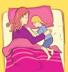 girl sleeping vector image vector image