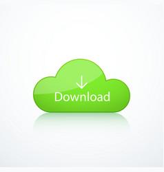 green cloud icon vector image