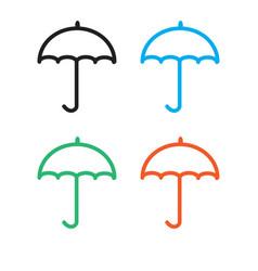 umbrella icon on white background umbrella sign vector image vector image