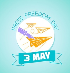3 may Press Freedom Day vector