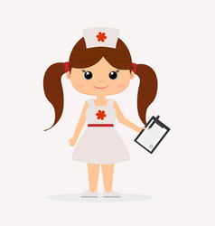 A girl in a doctor s suit vector