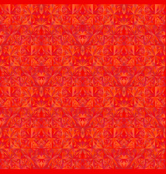 Abstract red polygonal geometrical mosaic floral vector
