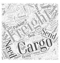Air cargo freight Word Cloud Concept vector