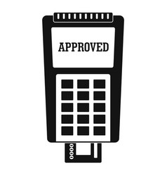 approved credit card payment icon simple style vector image