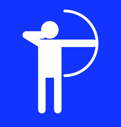 archery sport figure symbol graphic vector image