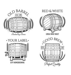 Barrel retro emblems vector