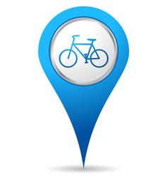 bike location icon vector image