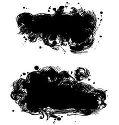 Black banner vector image