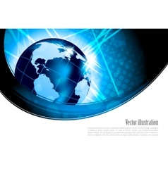 Bright background with globe vector