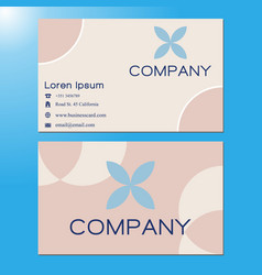 business card classic color 0005 vector image