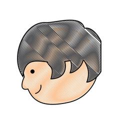 Cartoon man icon image vector