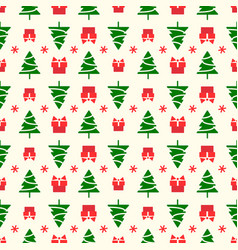 christmas pattern with tree vector image