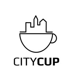 city cup logotype vector image