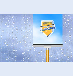 cleaning service background vector image