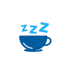 coffee sleep logo icon design vector image