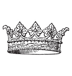 Coronet is a small crown vintage engraving vector