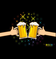 cute cartoon of beer vector image