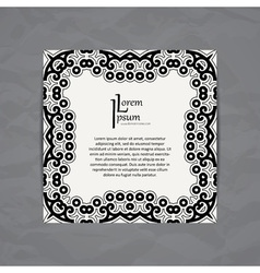 Design templates Business card with floral circle vector